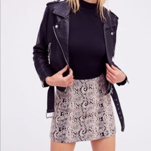 Free People Jacquard Snake Print Mini Skirt 4